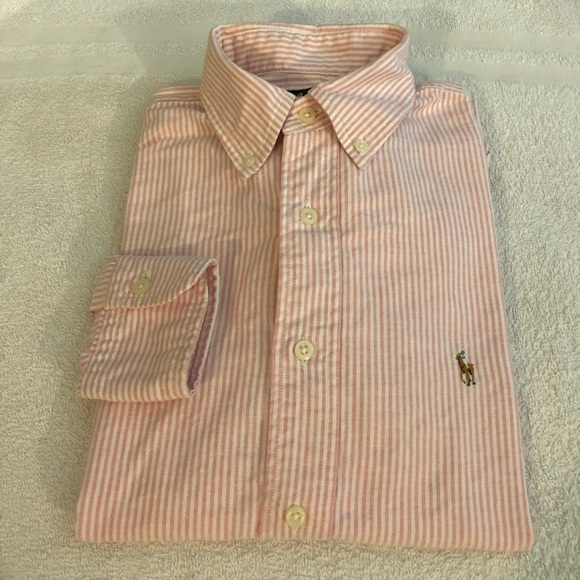 fa942fbbb Polo Ralph Lauren Pink Stripe Oxford Shirt 6 BOYS.  M_5ac3e12572ea887ff1489227